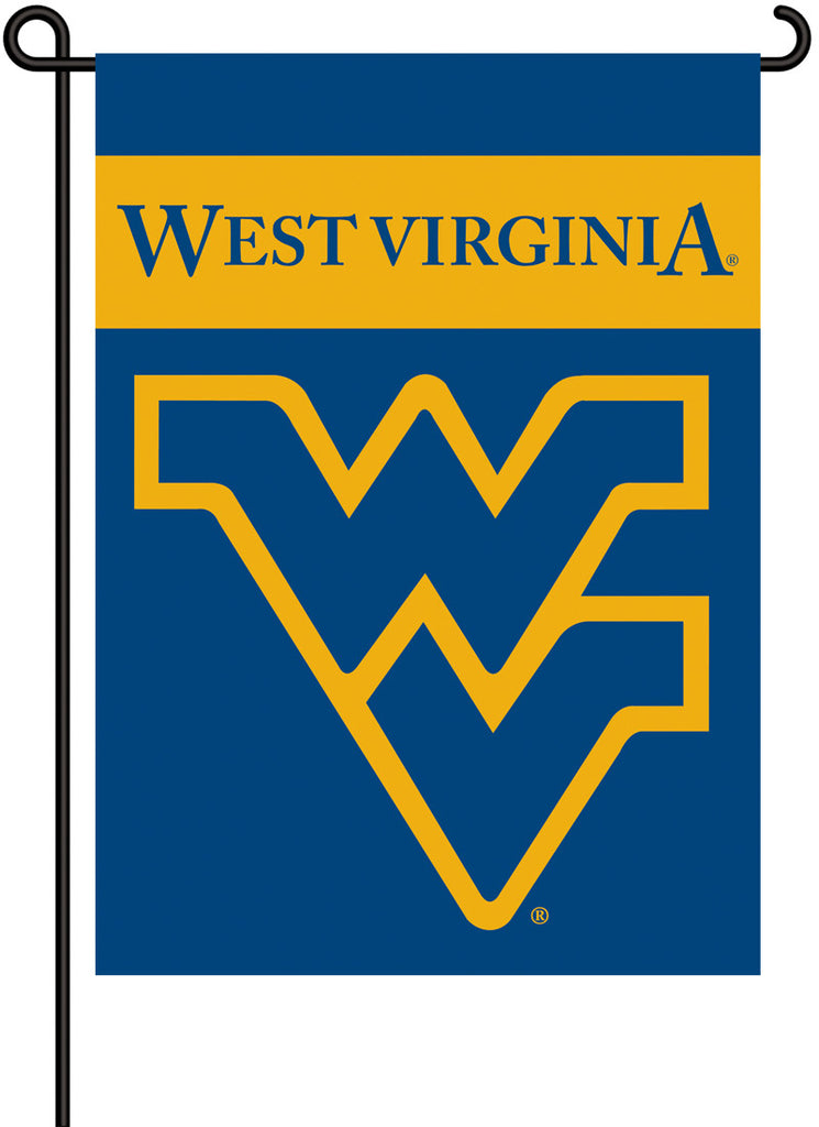 NCAA Officially licensed products West Virginia Mountaineers 2-Sided Garden Flag  Support your favorite team by hanging up t