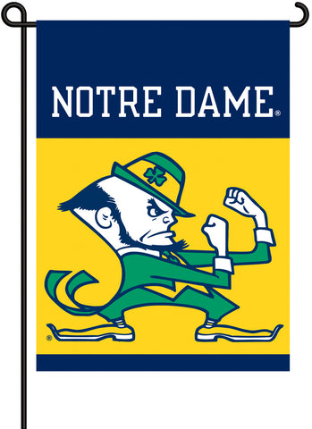NCAA Officially licensed products Notre Dame 2-Sided Garden Flag  Support your favorite team by hanging up this two-sided Co