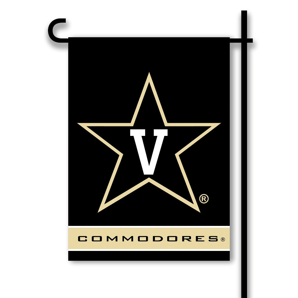 NCAA Officially licensed products Vanderbilt Commodores 2-Sided Garden Flag  Support your favorite team by hanging up this t