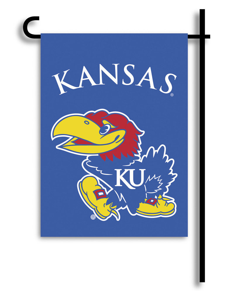 NCAA Officially licensed products Kansas Jayhawks 2-Sided Garden Flag  Support your favorite team by hanging up this two-sid