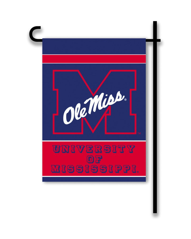 NCAA Officially licensed products Mississippi Rebels 2-Sided Garden Flag  Support your favorite team by hanging up this two-
