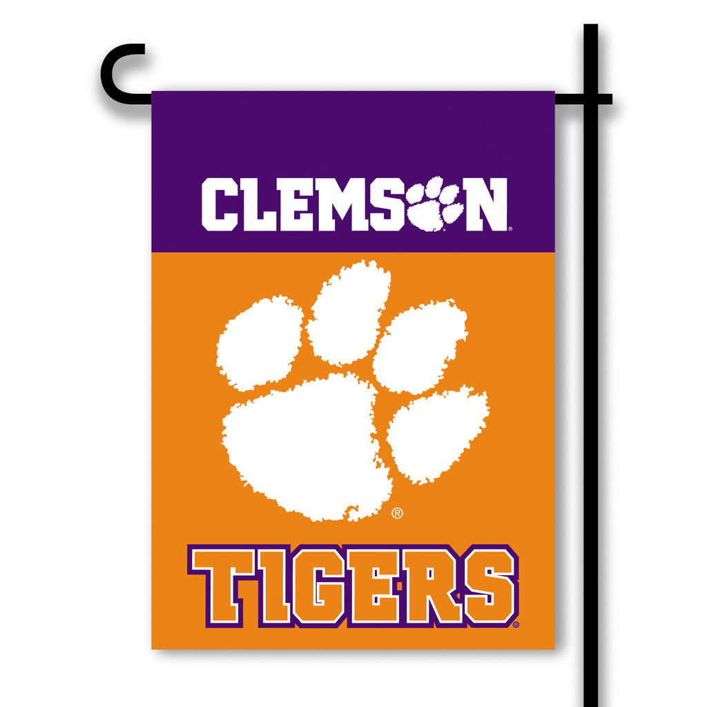 NCAA Officially licensed products Clemson Tigers 2-Sided Garden Flag  Support your favorite team by hanging up this two-side