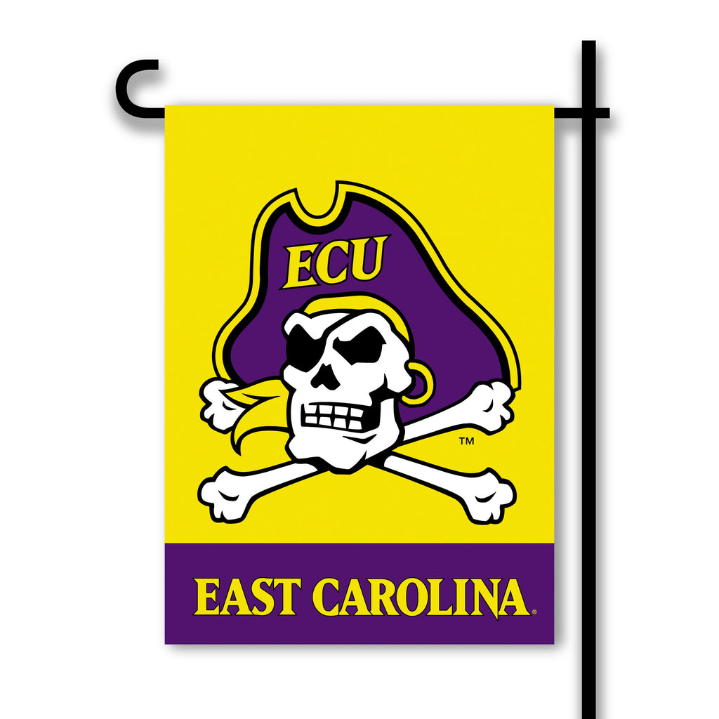 NCAA Officially licensed products East Carolina Pirates 2-Sided Garden Flag  Support your favorite team by hanging up this t