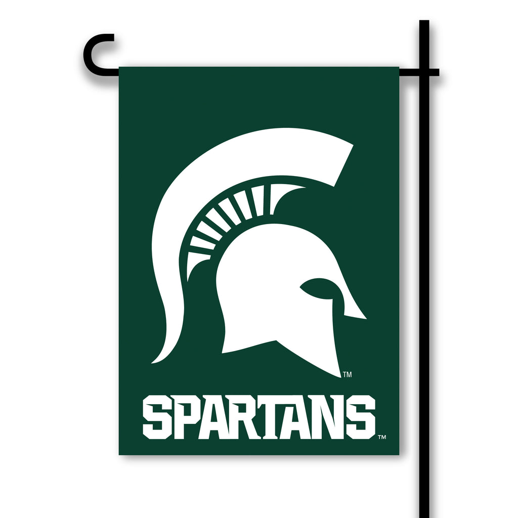 NCAA Officially licensed products Michigan State Spartans 2-Sided Garden Flag  Support your favorite team by hanging up this