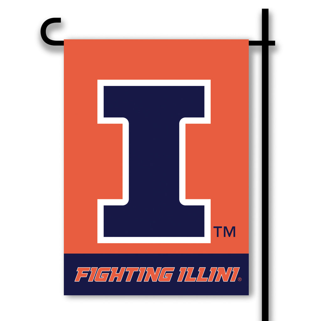 NCAA Officially licensed products Illinois Fighting Illini 2-Sided Garden Flag  Support your favorite team by hanging up thi