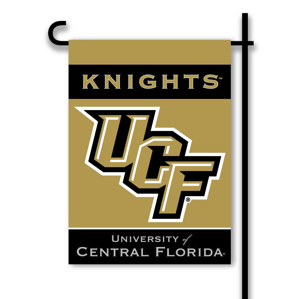 NCAA Officially licensed products Central Florida Golden Knights* 2-Sided Garden Flag  Support your favorite team by hanging
