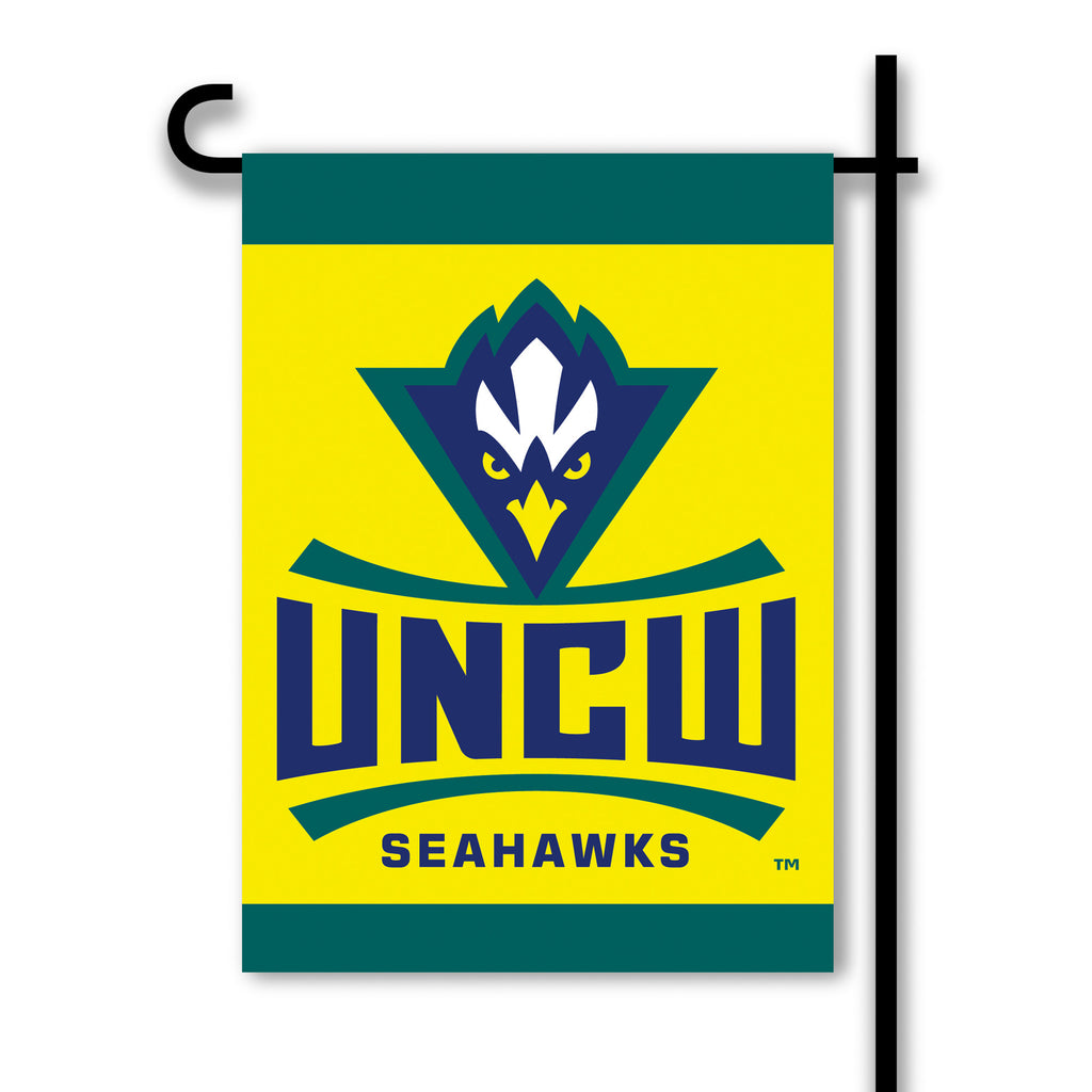 NCAA Officially licensed products Unc Wilmington 2-Sided Garden Flag  Support your favorite team by hanging up this two-side