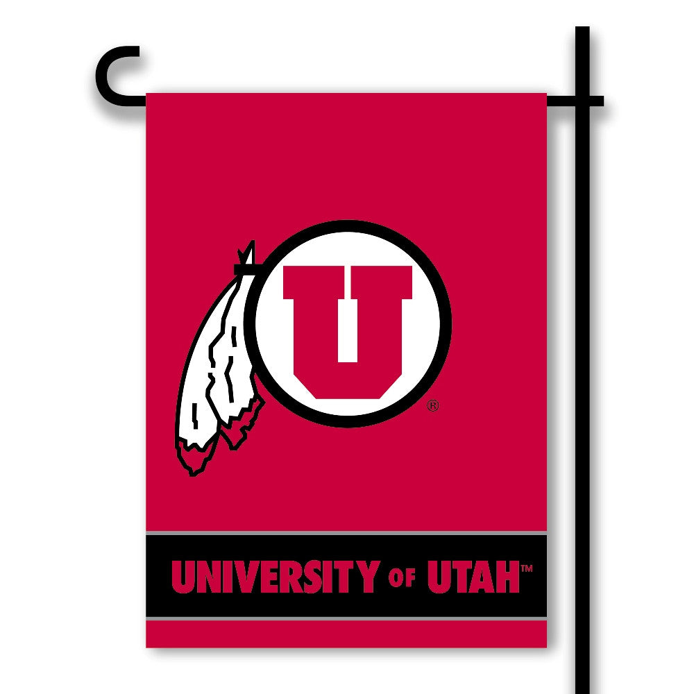 NCAA Officially licensed products Utah Utes 2-Sided Garden Flag  Support your favorite team by hanging up this two-sided Col