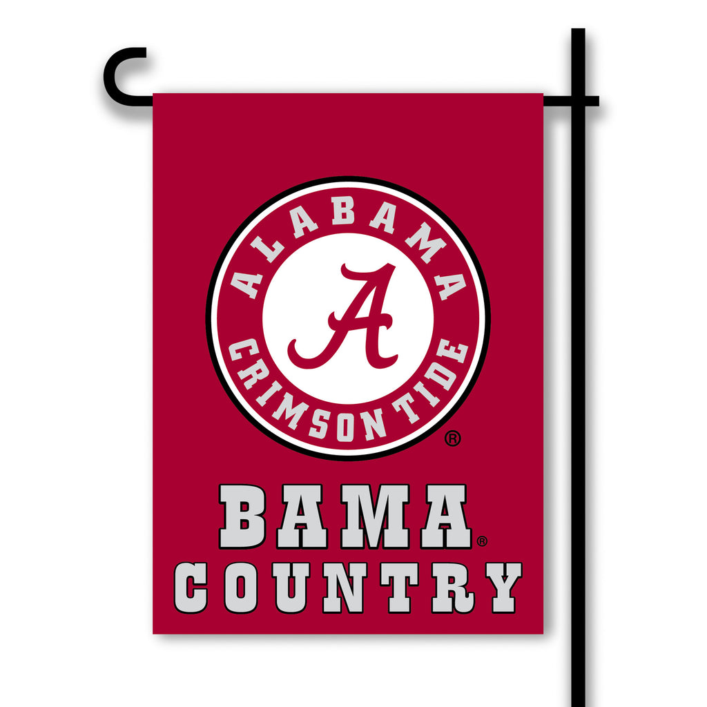 NCAA Officially licensed products Alabama Crimson Tide 2-Sided Country Garden Flag Support your favorite team by hanging up