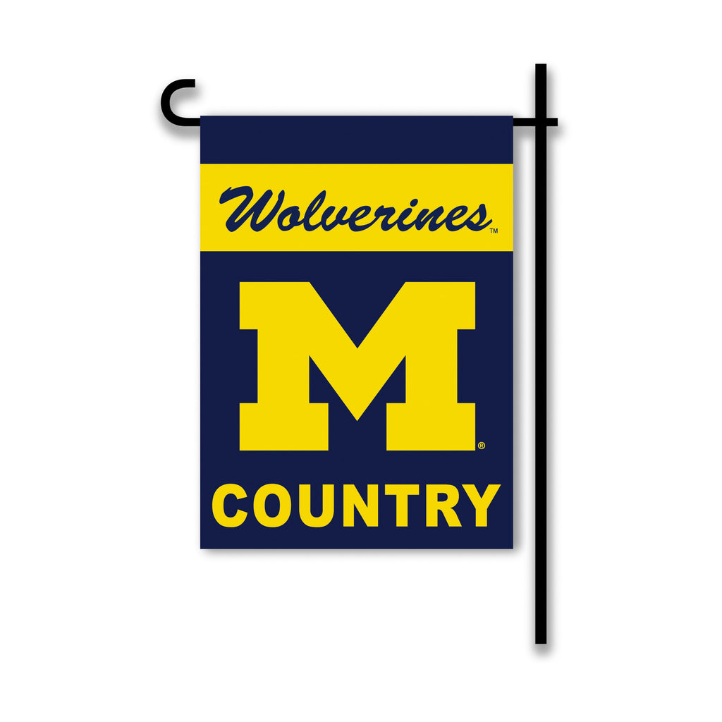 NCAA Officially licensed products Michigan Wolverines 2-Sided Country Garden Flag Support your favorite team by hanging up t