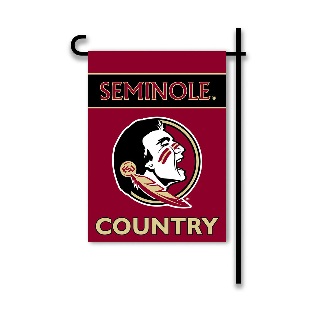 NCAA Officially licensed products Florida State Seminoles 2-Sided Country Garden Flag Support your favorite team by hanging