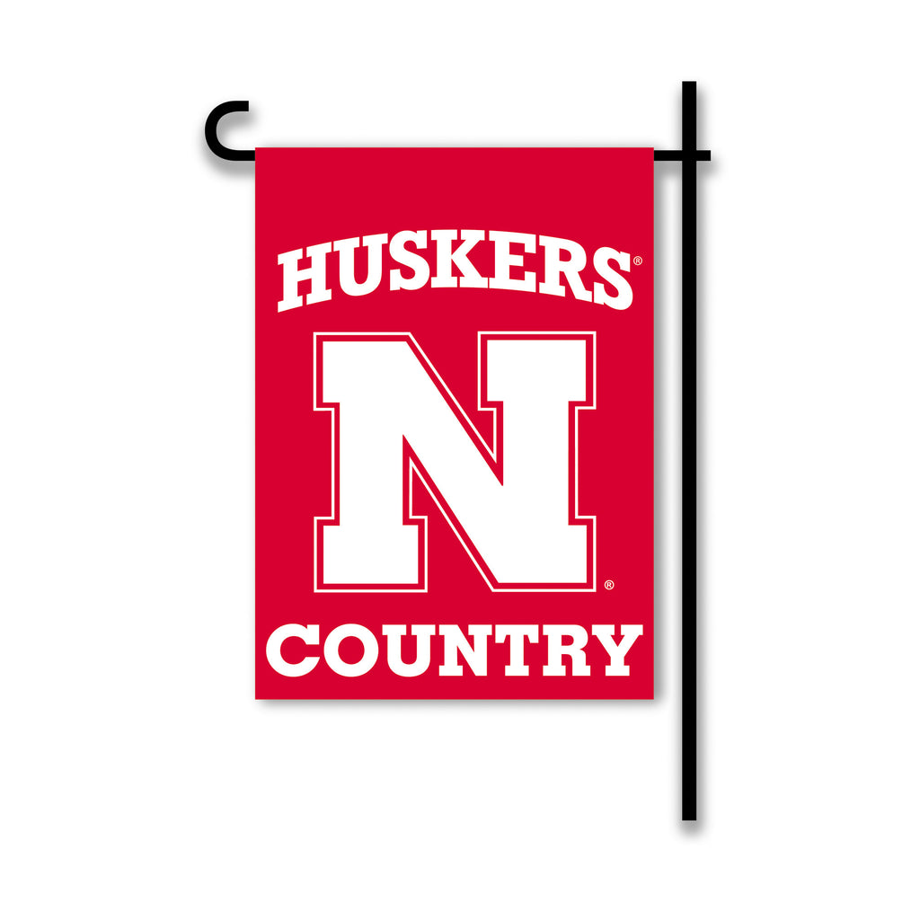 NCAA Officially licensed products Nebraska Cornhuskers 2-Sided Country Garden Flag Support your favorite team by hanging up