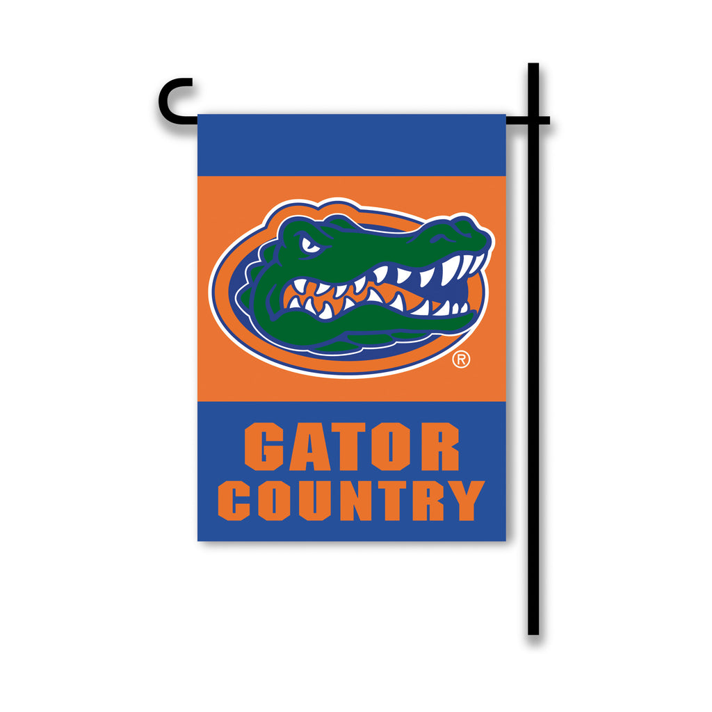 NCAA Officially licensed products Florida Gators 2-Sided Country Garden Flag Support your favorite team by hanging up this t