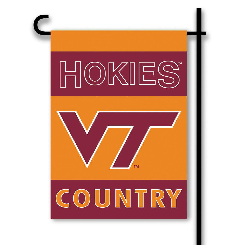 NCAA Officially licensed products Virginia Tech Hokies 2-Sided Country Garden Flag Support your favorite team by hanging up