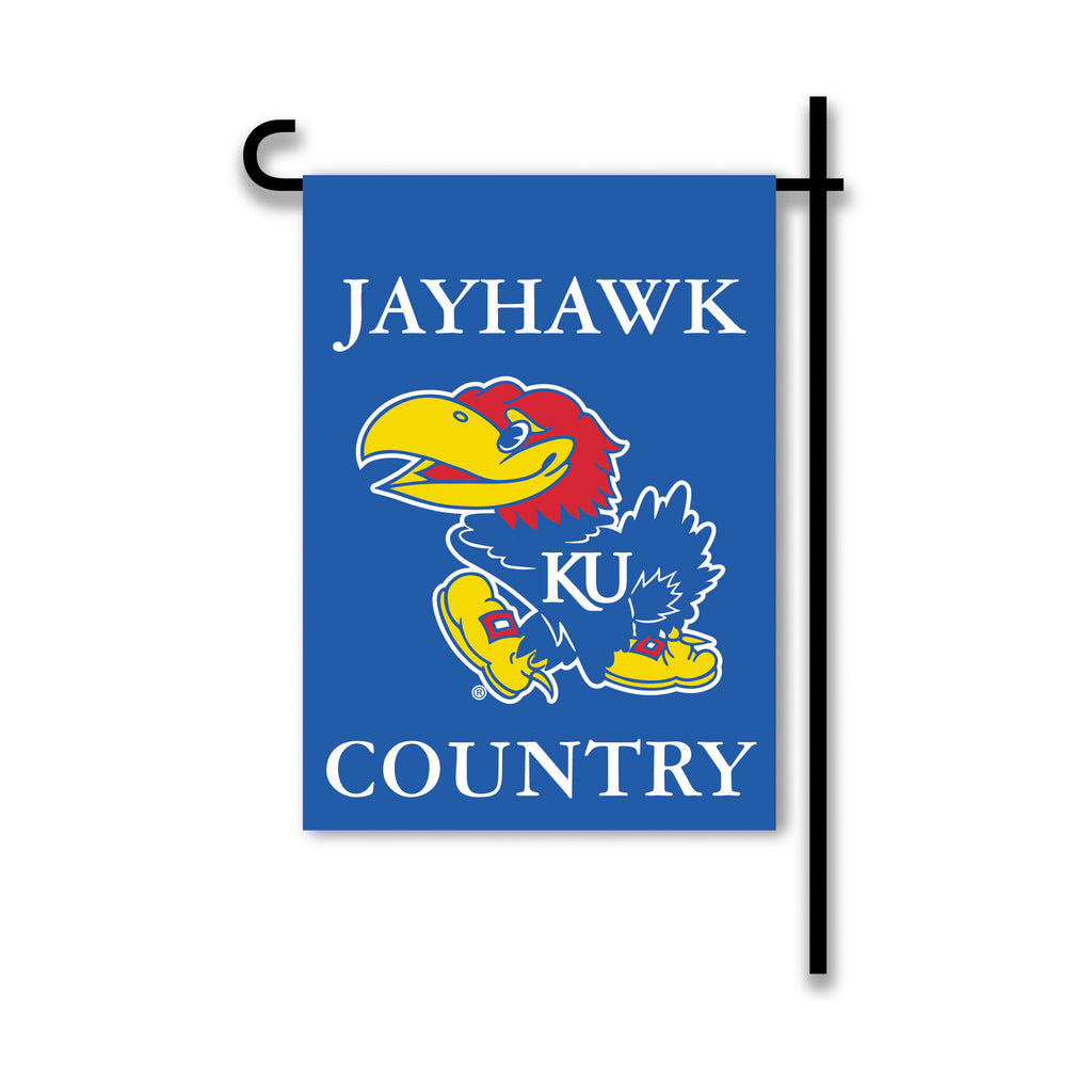 NCAA Officially licensed products Kansas Jayhawks 2-Sided Country Garden Flag Support your favorite team by hanging up this
