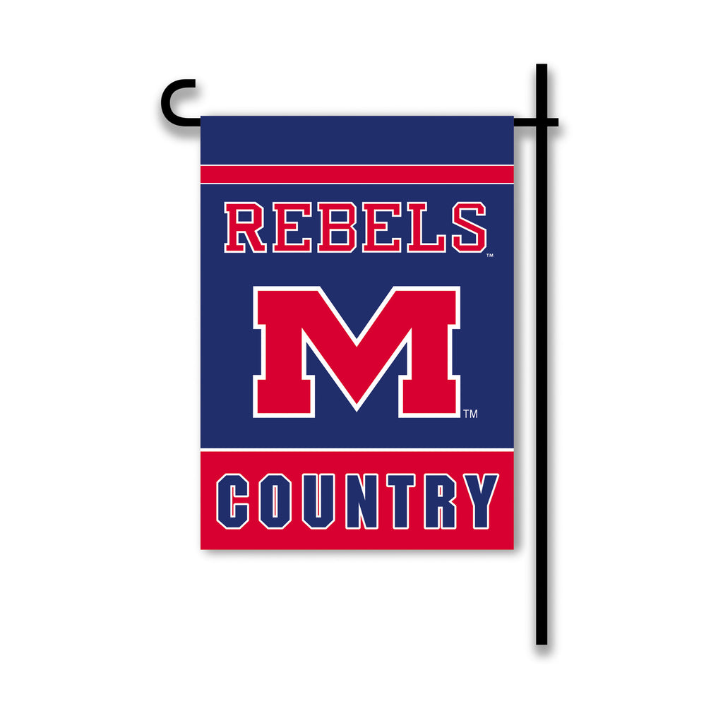 NCAA Officially licensed products Mississippi Rebels 2-Sided Country Garden Flag Support your favorite team by hanging up th