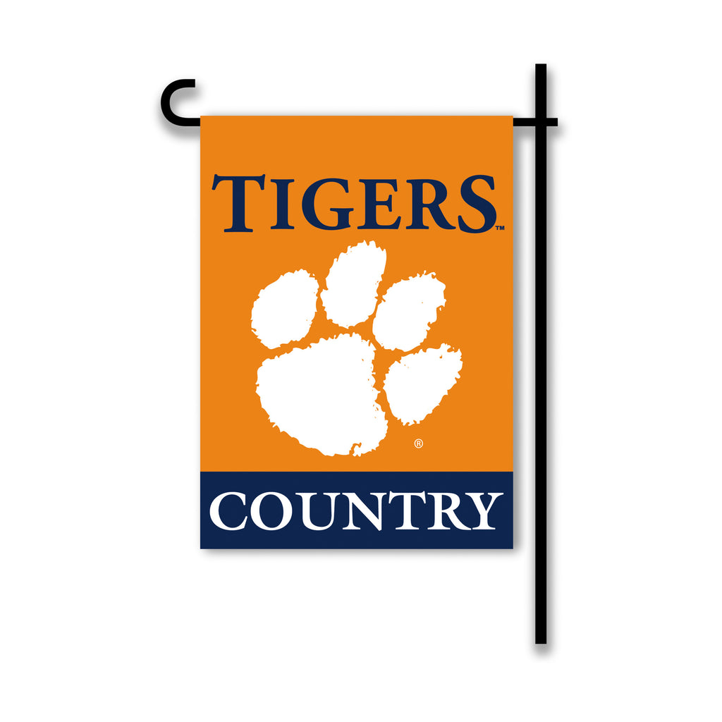 NCAA Officially licensed products Clemson Tigers 2-Sided Country Garden Flag Support your favorite team by hanging up this t
