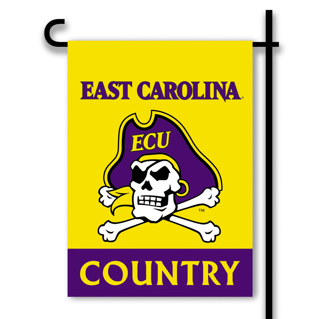 NCAA Officially licensed products East Carolina Pirates 2-Sided Country Garden Flag Support your favorite team by hanging up