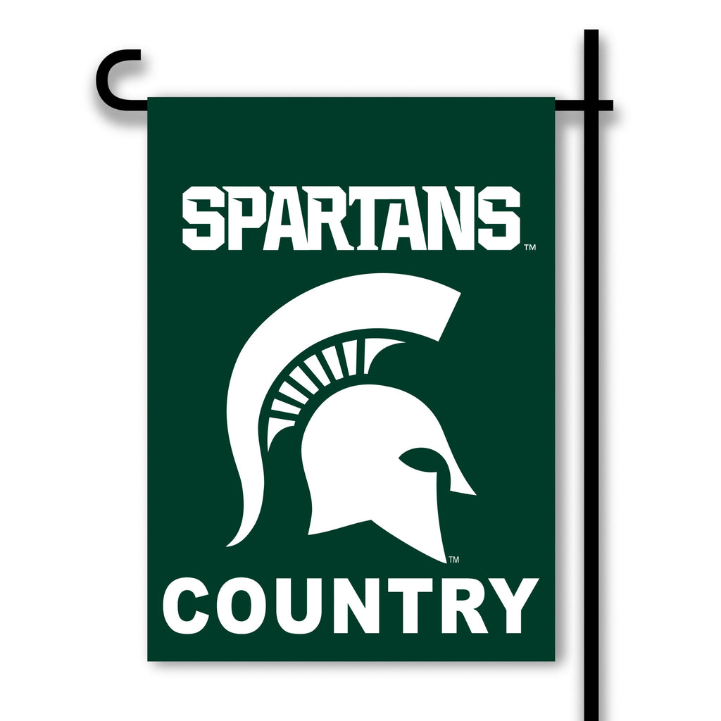 NCAA Officially licensed products Michigan State Spartans 2-Sided Country Garden Flag Support your favorite team by hanging