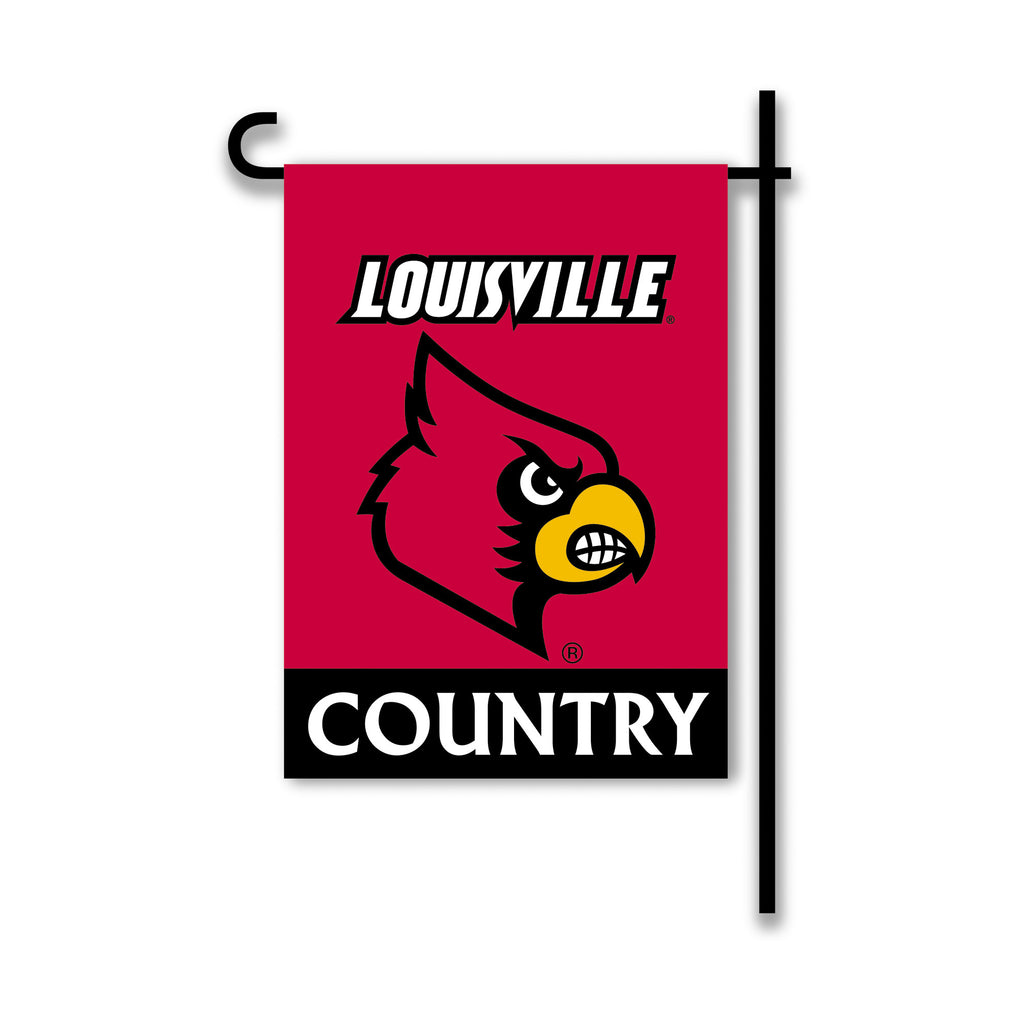 NCAA Officially licensed products Louisville Cardinals 2-Sided Country Garden Flag Support your favorite team by hanging up