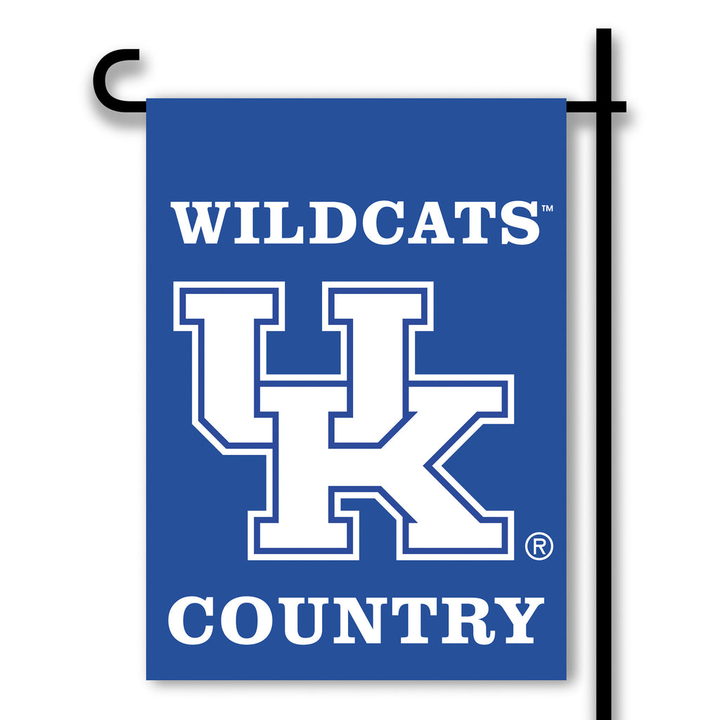 NCAA Officially licensed products Kentucky Wildcats 2-Sided Country Garden Flag Support your favorite team by hanging up thi