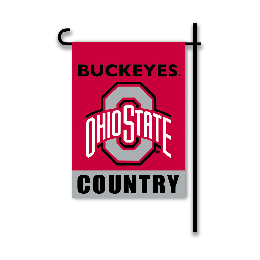NCAA Officially licensed products Ohio State Buckeyes 2-Sided Country Garden Flag Support your favorite team by hanging up t