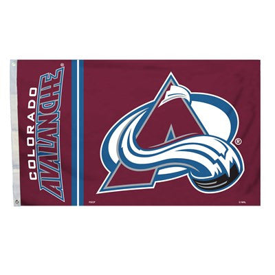 NHL Officially licensed products Colorado Avalanche 3 Ft. X 5 Ft. Flag W/Grommetts Show everyone that you are a die-hard fan