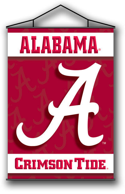 NCAA Officially licensed products Alabama Crimson Tide Indoor Banner Scroll Support your favorite College team at home or in
