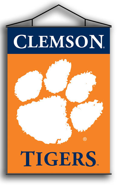 NCAA Officially licensed products Clemson Tigers Indoor Banner Scroll Support your favorite College team at home or in the o