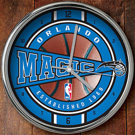 Orlando Magic Chrome Wall Clock