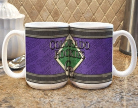 Colorado Rockies Coffee Mug - Felt Style