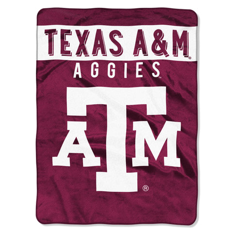 Texas A&M Aggies Blanket 60x80 Raschel Basic Design