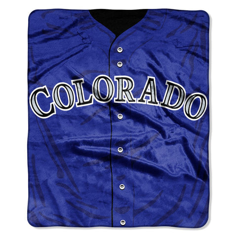 Colorado Rockies Blanket 50x60 Raschel Jersey Design
