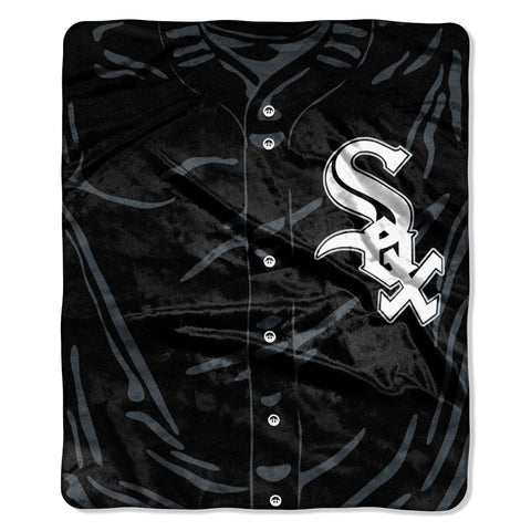 Chicago White Sox Blanket 50x60 Raschel Jersey Design
