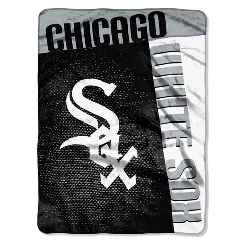 Chicago White Sox Blanket 60x80 Raschel Strike Design