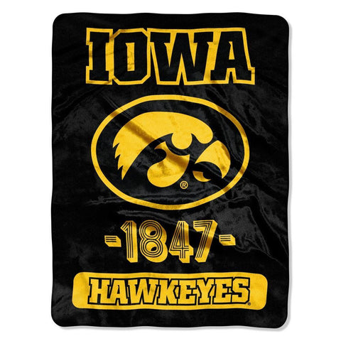 Iowa Hawkeyes Blanket 46x60 Raschel Vasity Design Rolled