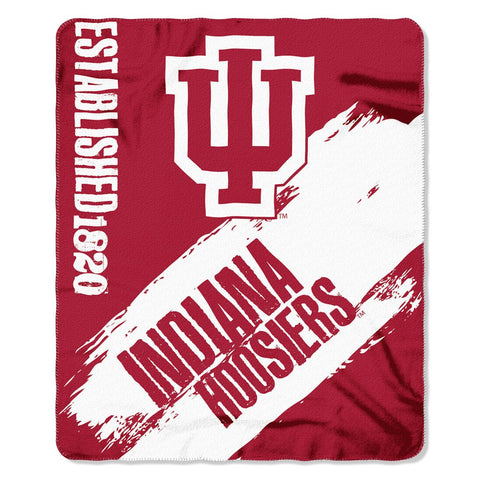 Indiana Hoosiers Blanket 50x60 Fleece College Painted Design