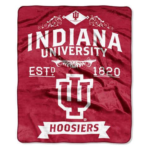 Indiana Hoosiers Blanket 50x60 Raschel Label Design