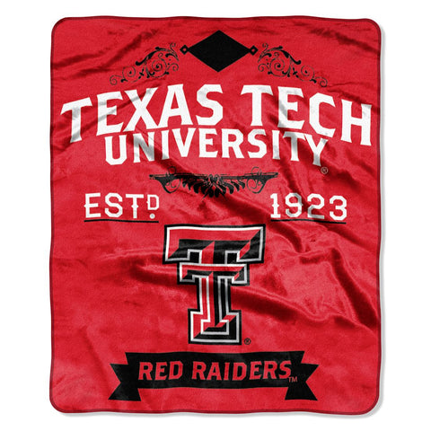 Texas Tech Red Raiders Blanket 50x60 Raschel Label Design
