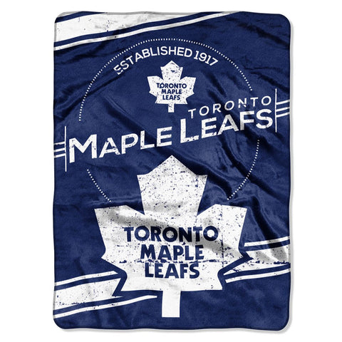 Toronto Maple Leafs Blanket 60x80 Raschel Stamp Design