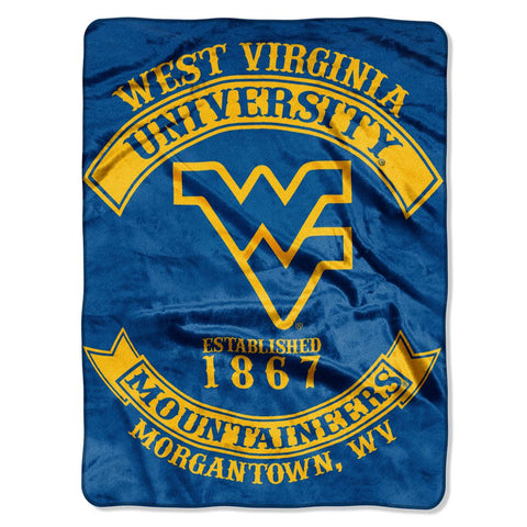 West Virginia Mountaineers Blanket 60x80 Raschel Rebel Design