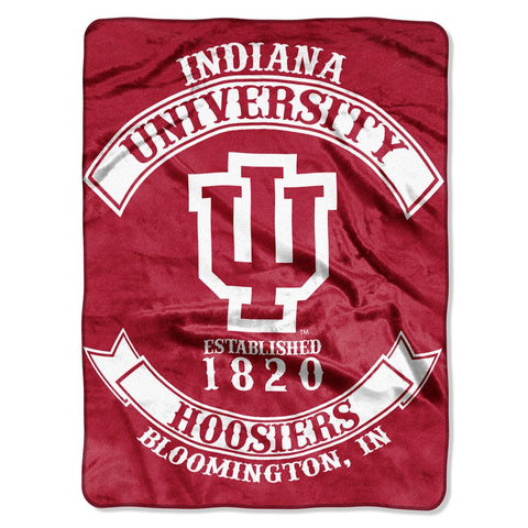 Indiana Hoosiers Blanket 60x80 Raschel Rebel Design