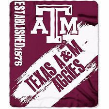 Texas A&M Aggies Blanket 50x60 Fleece College Painted Design