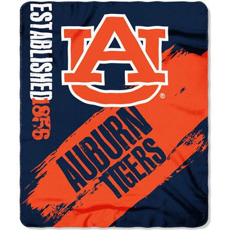 Auburn Tigers Blanket 50x60 Fleece College Painted Design