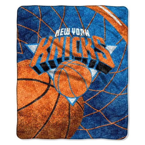 New York Knicks Blanket 50x60 Sherpa Jersey Design