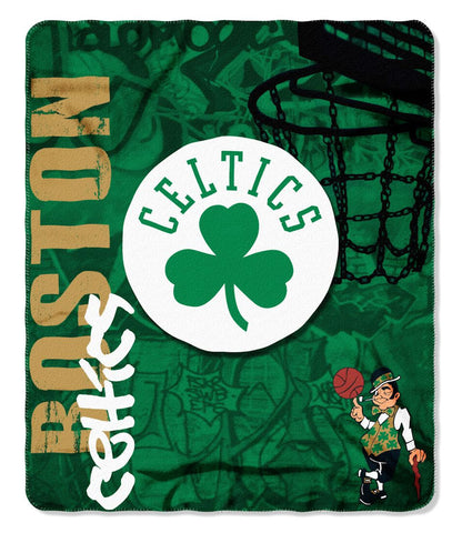 Boston Celtics Blanket 50x60 Fleece Hard Knock Design