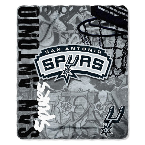 San Antonio Spurs Blanket 50x60 Fleece Hard Knock Design