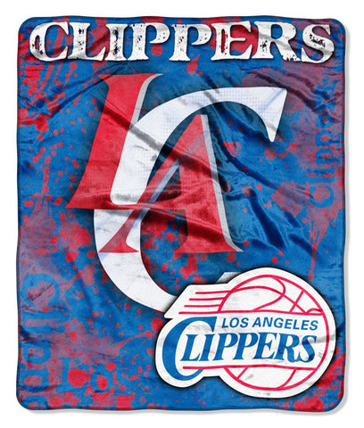 Los Angeles Clippers Blanket 50x60 Raschel Drop Down Design