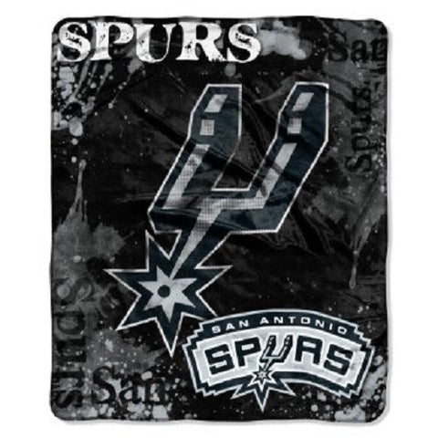 San Antonio Spurs Blanket 50x60 Raschel Drop Down Design