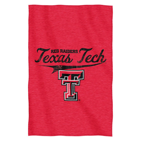 Texas Tech Red Raiders Blanket 54x84 Sweatshirt Script Design